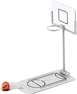 Fengirl Creative Funny Desktop Miniature Basketball Game Toy, Fun Sports Novelty Toy or Gag Gift Idea (Gray)