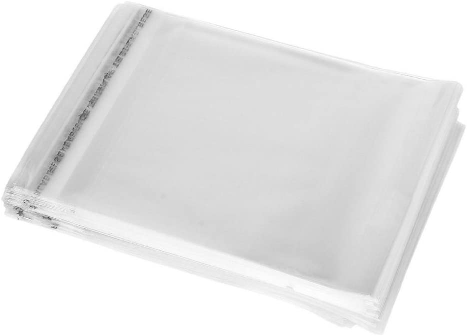 100 x C5 CELLO BAGS 230MM X 165MM WITH 25MM LIP Free P/&P