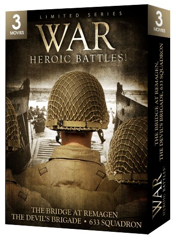 War: Heroic Battles - 3 Movie Set - The Bridge at Remagen / The Devil's Brigade / 633 Squadron