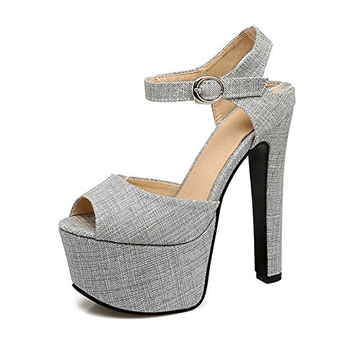 Tal Atractiva Plataforma Impermeable Primavera Zapatos o de Oto Discoteca Mujer w8qY6zpxA