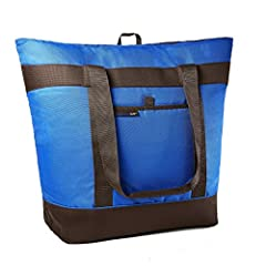 Extra-large insulated, reusable tote bag from Rachael Ray. The Jumbo Chillout has a generous ten gallon capacity making it the perfect bag to bring along for large grocery orders, tailgating, parties, the beach, camping and more. Want to keep...