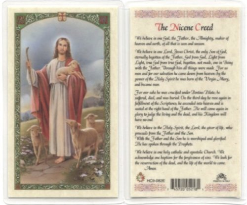 Good Shepherd - Nicene Creed Holy Card (HC9-082E) - Laminated