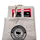 All Purpose 100% 4 x 12 Cotton Canvas Drop Cloth By Q.C.C -This size Includes a Complimentary TOTE BAG to carry your Drop Cloth / Eco friendly and Every Contractor's choice.