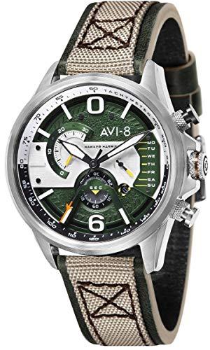 (AVI-8 Mens Hawker Harrier ll Watch - Green/Beige)