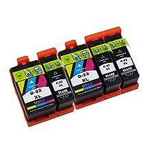 Colour-store 5 Pack (3 Black , 2 Color) High Yield Compatible Ink Cartridge For Dell Series 21/ 22/ 23/ 24 P513w P713w V313 V313w V715w V515w printer inkjet