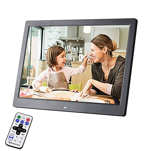 Any-door Digital Picture Frame 13 inch RC Body Induction HD Video Player LED with Music Calender 1080p with Remote Control Picture Photo Display