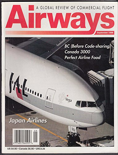 AIRWAYS Japan Airlines JAL Canada 3000 Airline Food Interchange Story ++ 9 1998