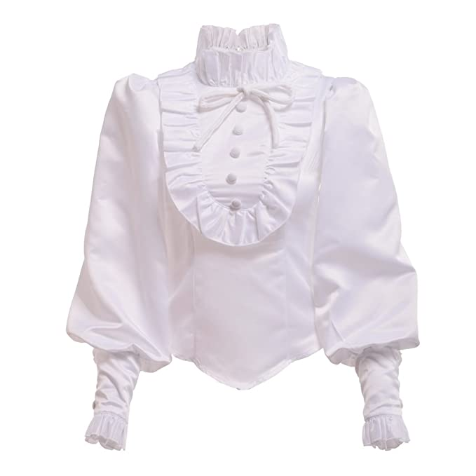 Victorian Clothing, Costumes & 1800s Fashion BLESSUME Vintage Lolita Women Blouse Medieval Victorian Top  AT vintagedancer.com