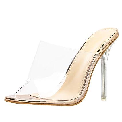 8274e812e Amazon.com  YKARITIANNA Women Fashion Transparent Sandals Fine Heel Sexy Peep  High Heels Sandals  Arts