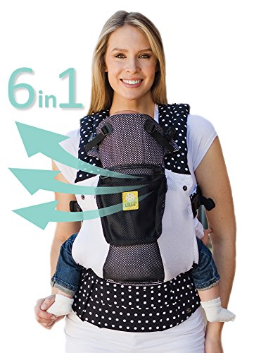 LÍLLÉbaby The COMPLETE Airflow SIX-Position 360° Ergonomic Baby & Child Carrier, Spot On Black - Cotton Baby Carrier, Ergonomic Multi-Position Carrying for Infants Babies Toddlers