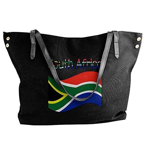 Women's South Africa-1 Canvas Shoulder Bag Handbags Tote Bag Casual Travel Bags by DJFanbu-39BAO