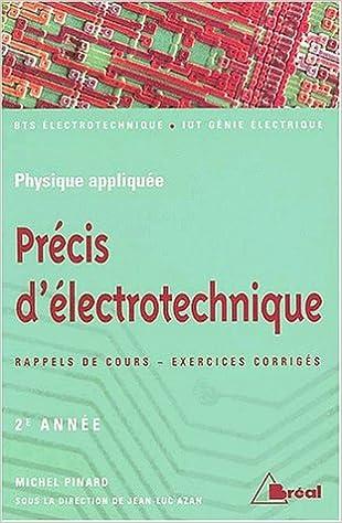 Livres gratuits en ligne Précis d'électrotechnique deuxième année pdf ebook