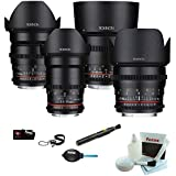 ROKINON CINE DS T1.5 Cinema Lens Bundle - 50mm, 35mm, 85mm, 24mm (Sony E-Mount)