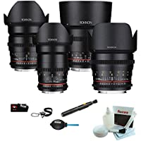 ROKINON CINE DS T1.5 Cinema Lens Bundle - 24mm, 35mm, 50mm, and 85mm (Sony E-Mount)