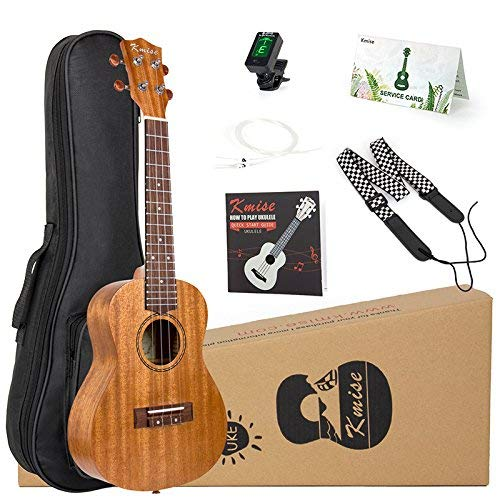 Concert Ukulele Kit Vintage Uke 23 Inch Mahogany Wood for Beginner With Starter Pack (Gig Bag Tuner Strap String Instruction Booklet) From Kmise