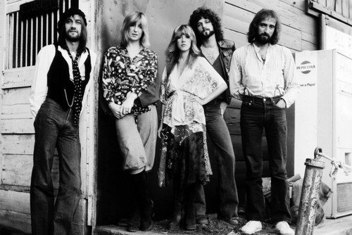 Fleetwood Mac Stevie Nicks Mick Lindsey Buckingham John McVie and group 24x36 Poster Silverscreen