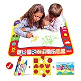 Magic Drawing Mat/Water Drawing Painting Mat(31.4in x 23.6in)with 4 Color,Wholethings Magnetic Learning Painting Doodle Scribble mat with Magic Pen for Kids