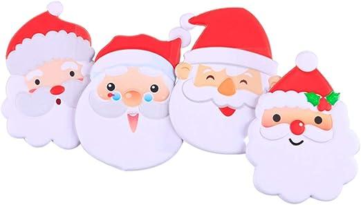 VOSAREA 4 unids Navidad Papá Noel Ventana Pegatinas Puerta de ...