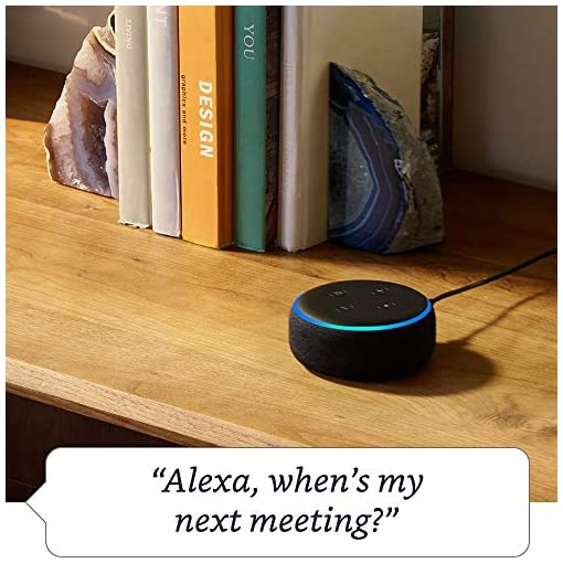 Echo Dot (3rd Gen) – Smart speaker with Alexa – Charcoal Fabric