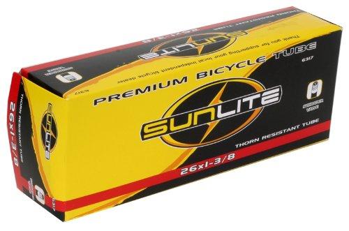 """SUNLITE Thorn Resistant Schrader Valve Tube, 12-1/2 x 2-1/4"""" / 32mm, Black"""