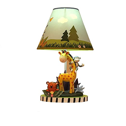 Tonys Home LED Sunny Safari Animals Thematic Kids Table Lamp Imagination Inspiring Hand Painted Details