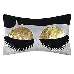 3D Long Eyelashes Throw Pillow Cover