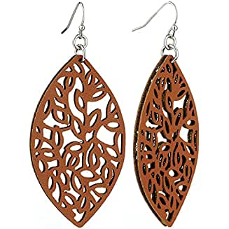 Faux Leather Earrings | Faux Leather Earring Designs | Faux Leather | Earrings | Faux Leather Earring Ideas | Leather Earrings | Earring Ideas