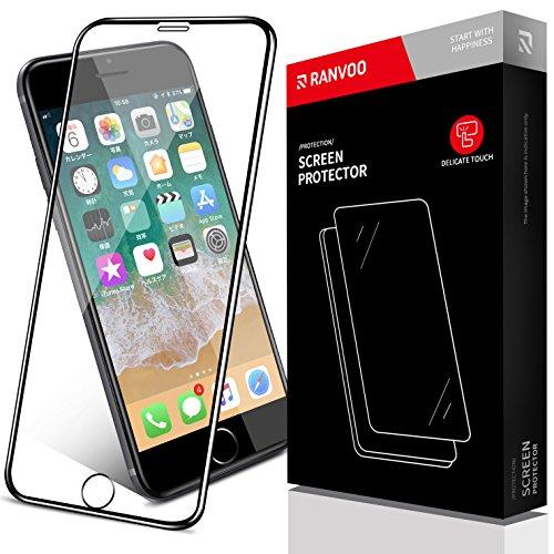 騒概要投げ捨てるRANVOO iPhone8 plus/iPhone7 plus フィルム5.5D全面iPhone8 plus/iPhone7 plus ガラスフィルムiPhone8 plus/iPhone7 plus 保護フィルム iPhone8 plus/iPhone7 plus 強化ガラスフィルム 曲面デザイン5.5Dラウンドエッジ加工 99% 透過率 光沢 耐衝撃 iPhone8 plus/iPhone7 plus 4.7インチ用 (ブラック)