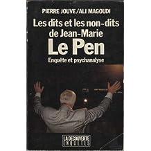 Dits et les non-dits de J.M. Le Pen