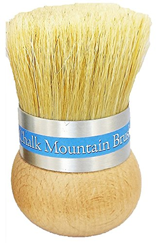 ORIGINAL DESIGN by Chalk Mountain Brushes - LARGE Palm Wax, upholstery &/or Stencil Boar Hair Bristle Brush. Designed for maximum comfort; Perfect for Arthritic Hands. (Brush Waxing)