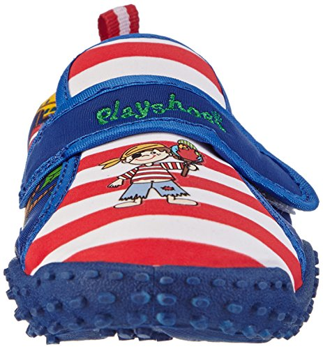 Playshoes Aquaschuhe, Badeschuhe Pirateninsel Mit Höchstem Uv-schutz Nach Standard 801 - Escarpines Niños Blau (original 900)