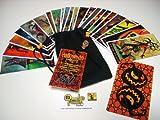 Halloween Tarot Cards - 22 Card Major Arcana Deck (With Handmade Tarot bag) (Halloween Tarot)