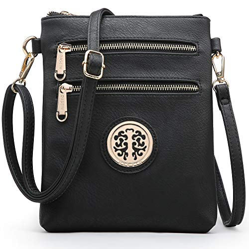 Dasein Medium Crossbody Bags for Women Handbag Lightweight Crossbody Purses with Multi Pockets