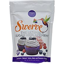 Swerve Sweetener, Confectioners, 16 Ounce (Pack of 6)