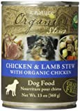 BY NATURE 392108 12-Pack Organic Chicken and Lamb Stew Food for Dogs, 13-Ounce
