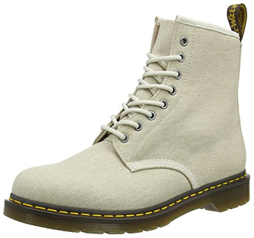 Dr. Martens Men's 1460 Ankle Boots Off-white (Bone Washed Canvas) Afrm3