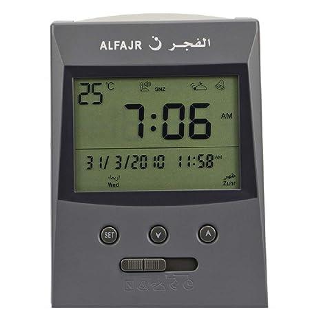 Amazon. Com: alfajr azan clock cs-03 kit islamic wall alarm.