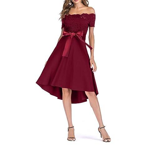 SMILEQ Vestido de Princesa Vintage con Falda de Encaje Floral para ...