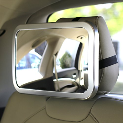 Baby Car Seat Mirror >> EPAuto Baby Car Back Seat Mirror for Baby and Mom Rear Facing View, Wide Convex Shatterproof ...