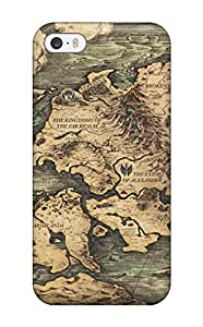 Anti-scratch And Shatterproof Project Phoenix Fantasy Anime Game Map Phone Case For Iphone 5/5s/ High Quality Tpu Case