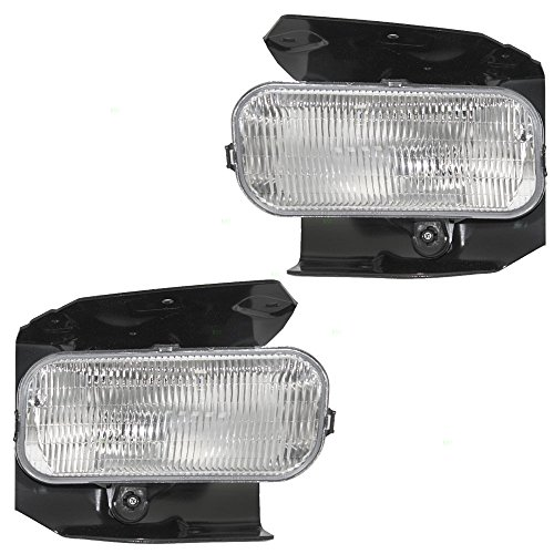 Driver and Passenger Fog Lights Lamps with Brackets Replacement for Ford Lincoln Pickup Truck 1L3Z15200AB 1L3Z15200AA AutoAndArt