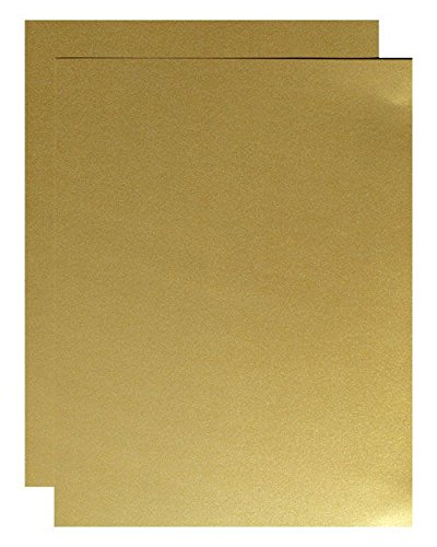 FAV Shimmer Pure Gold - 8.5 x 11 Card Stock Paper - 92lb Cover (250gsm) - 25 sheets per pack