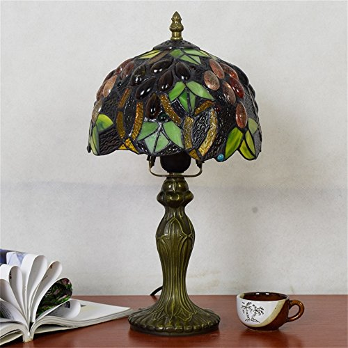 EuSolis E26 Tiffany Traditional Bedside and Table Lamps Handcrafted 8 Inch Flowers Stained Glass Luxury Bedside Lamps European Lamps for Living Room Bedroom Vintage 01 by EuSolis (Image #6)