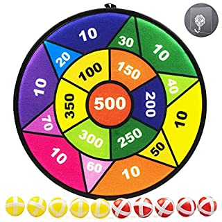 TaeMaJoy Board Games for Kids, Dart Board for Kids with 10 Sticky Balls, Outdoor Best Toys Gifts for Girls Boys, 13.6 Inches Safe Dartboard Game with Learn Numbers and Parent-Child Interaction