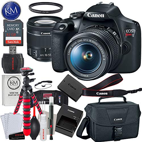 - Canon EOS Rebel T7 DSLR Camera with 18-55mm Lens + 32GB + Essential Photo Bundle