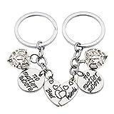2pcs Friendship Gift No Matter Where Best Friends 4ever Key Chain Ring Set BBF Split Broken Heart Pendant