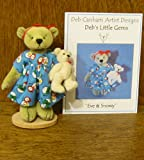 Deb Canham Artist Designs, EVE & SNOWY, Limited Edition from 2007 Deb's Little Gems Collection