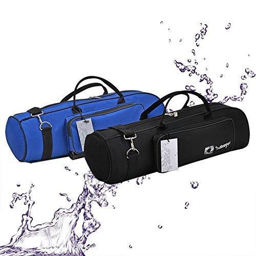 Trumpet Gig Bag 600D Water-resistant Oxford Cloth Adjustable Strap with Pocket 5mm Cotton Padded (Black)