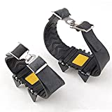 SUPOW(TM) Strap Type Crampon Ski Belt High Altitude Hiking Slip-resistant Crampon/Simple And Portable Bundled Four Teeth Crampon/Outdoor Skating Prevention Claw Shoes Covers Crampons