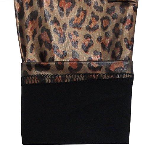 La leopard Sexy Skinny Simplicidad De Piel High waist Leggings Mujer 1634 Bvwptqx5O